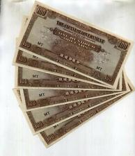MALAYA $100 JAPANESE CURRENCY LOT OF 5 CU 6319F
