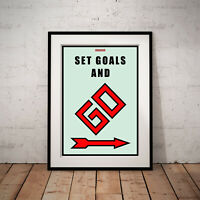 """Monopoly Motivation Success Gift Work Home Wall Art Decor 24"""" x 36"""" LARGE POSTER"""