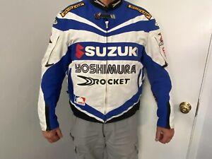 Joe Rocket Yoshmura Suzuki GSX-R Motorcycle Racing Jacket L