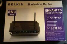 Belkin F5D8233-4 300 Mbps 4-Port 10/100 Wireless N Router w/ Adapter+Ethernet