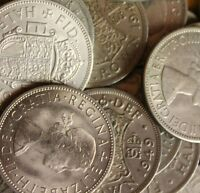 50 X HALF CROWN COINS OLD ENGLISH COINS