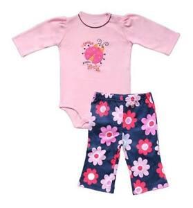 "Carter's 2-pc Bodysuit & Pull-On Pants Set ""Daddy's Little Lady"" (Ladybug), 9M"