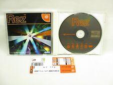 Dreamcast REZ with Spine Card Sega dc