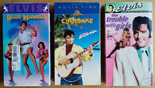 ELVIS PRESLEY - BLUE HAWAII, CLAMBAKE, TROUBLE WITH... - (3) VHS TAPES - SEALED