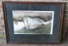 Original Watercolor RIVER SKIFF by JAMES L NORMAN Unframed MINT Condition!!!!