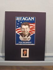 Ronald Reagan Runs for President honored by a campaign poster & his own stamp