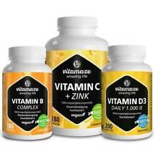 Pack Immunite avec Vitamine C + zinc, complexe de Vitamine B et Vitamine D3