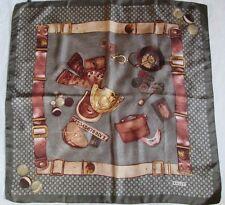Superbe Foulard  BALLY  100% soie  TBEG  vintage scarf /
