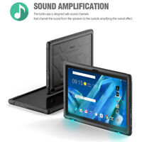 Lenovo Tab 4 10 Plus Tablet Silicone Case Shock Proof Back Cover Heavy Duty BLK