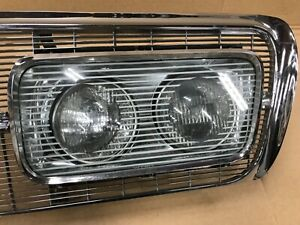 1965 Chrysler imperial LH Chrome Grill Headlight Bezel Glass Cover Surround