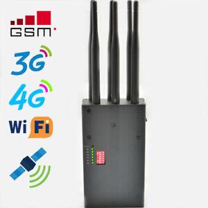 JAMMER 6 Canali WIFI GSM CDMA DCS 3G 4G jammer disturbatore jammer inibitore