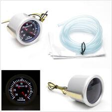 """Universal Metal&Plastic Car 2""""52mm LED Digital Smoke Lens 12V Vacuum Gauge Meter"""