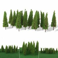 50pcs Model Pine Trees Model Train Trees for HO Or OO Scale Scene Layout 55mm