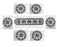 Velvet Glitter Round Dining Placemats + Table Runner Table Place Mats Decoration