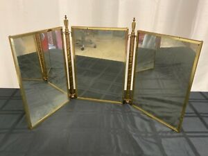 Antique Trifold Table Mirror (MM1769)