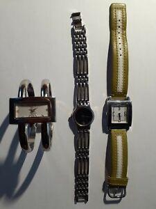 Lot of 3 Coach, Gruen, Movado Women Quartz Watches