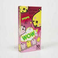 10p Fuji Latex WOW Luminous Glow In The Dark condoms Lubricated THIN 10p Japan