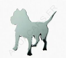 Sticker Carrosserie 3D Chrome  Pitbull
