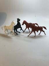 Marx Ben Hur And 54mm Cavalry Horses Reissues. One Damaged