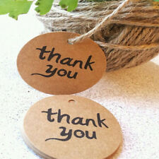100PCS Kraft Paper Hang Tags Wedding Party Favor Label thank you Gift Cards liau