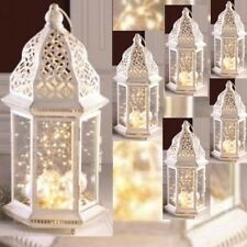 "6 Large Distressed Lantern Moroccan Candleholder Wedding Centerpieces 16"" Tall"