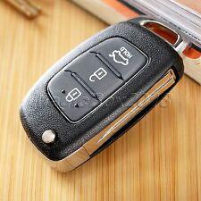 Folding Flip Key Shell For HYUNDAI ix45 Santa Fe Remote Key Case Fob 3 Buttons