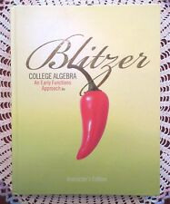 Blitzer College Algebra An Early Functions Approach 2e Instructors Edition