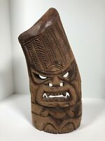 "Vintage Tiki Mask Hand Carved 16"" Tall Unsigned 2 lbs 14 oz Folk Art"