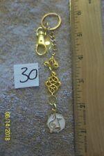 purse jewlrey gold color music note keychain backpack filigree dangle charm #30