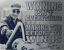 Tin Metal Sign Vince Lombardi winning nfl best football player coach poster 1961