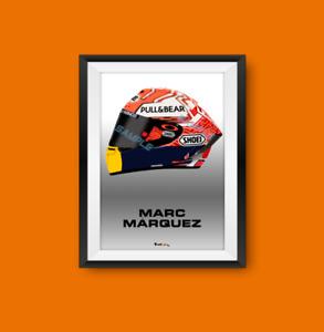 Marc Marquez MotoGP 2019 Helmet Print - Scuderia GP