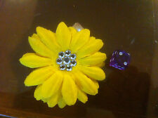 Claire's Claires Accessories Official Head Hair Clip Yellow Flower £2.50 RRP