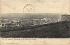 La Vallee Riviere St Charles Quebec St. Joseph De Beauce Cancel Postcard