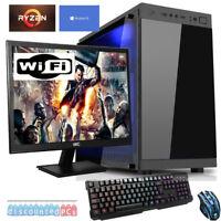 AMD Ryzen 5 2400g 3.6ghz 8gb,1tb,Gaming Bundle PC 23.6'' Computer,Win10,WIFI cx5