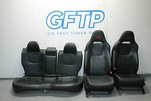 08-14 SUBARU WRX STI OEM LIMITED LEATHER COMPLETE SEAT SET BLACK RED STITCHING