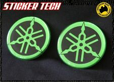 2X MONSTER GREEN & BLACK FUEL TANK BADGE DECAL TO SUIT YAMAHA M1 R1 R6 YZF YZR