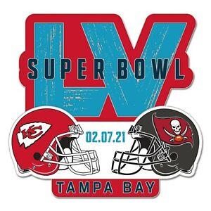 Super Bowl 55 Tampa Bay Buccaneers Kansas City Chiefs Lapel Pin