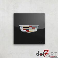 Cadillac Badge Luxury Black Open Edition Print