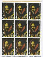 Bob Marley 1998 Jamaica Bandera Mongolia estampillada sin montar o nunca montada SELLO Sheetlet