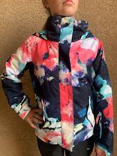 Roxy Girls Jetty Girl Multi-colored Hooded Ski Jacket Size Medium