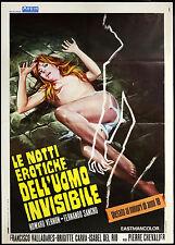 l'affiche du film NOTTI érotique De L''UOMO INVISIBLE vernon, sancho,CHEVALIER