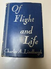 Charles Lindbergh 1st Printing 1948 OF FLIGHT AND LIFE  with Dust Jacket