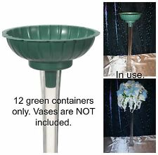 12 Green TOWER VASE FLOWER ARRAIGNMENT CONTAINERS-Fit Most Eiffel Tower Vases