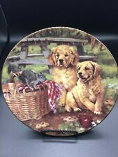 """The Hamilton Collection """"Lunchtime Companions� 8.25 Signed Plate no. 0663A"""