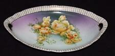 "Victoria Czecho-Slovakia (1918-1935), Yellow Roses, Gold Trim, 12"" Oval Tray"