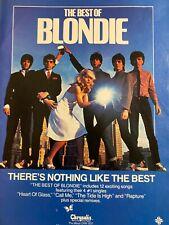 Blondie, Debbie Harry, Best Of, Full Page Vintage Promotional Ad