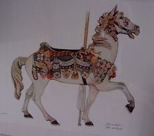 M.Illions Carousel Horse Limited Edition Print by John Westcott Signed/Numbered