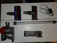 Dyson V6 Absolute Cordless Stick Vacuum Cleaner Red W/ Wall Mount & Attachments