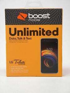Brand New Silver Boost Mobile LG Tribute Empire 16GB Prepaid Smartphone
