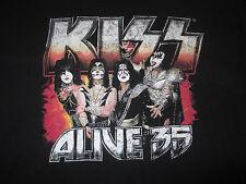 "KISS ""1973-2009 ALIVE 35"" World Concert Tour (LG) T-Shirt GENE PAUL PETER ACE"